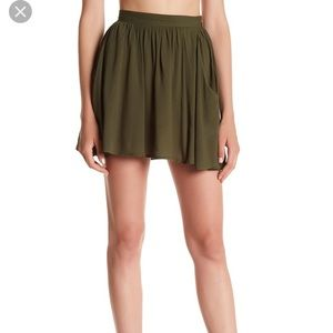 One Teaspoon Sugar Mini Skirt Olive Green Size S
